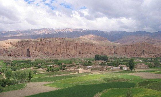 Археологические памятники в долине Бамиан, Афганистан.