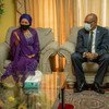 نائبة الأمين العام للأمم المتحدة أمينة محمد تلتقي برئيس الوزراء الهايتي أرييل هنري.