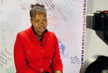 Wanjuhi Njoroge, mwanaharkati kijana wa mazingira kutoka Kenya na mshiriki wa kongamano la vijana kuhusu hatua dhidi ya mabadiliko ya tabianchi.