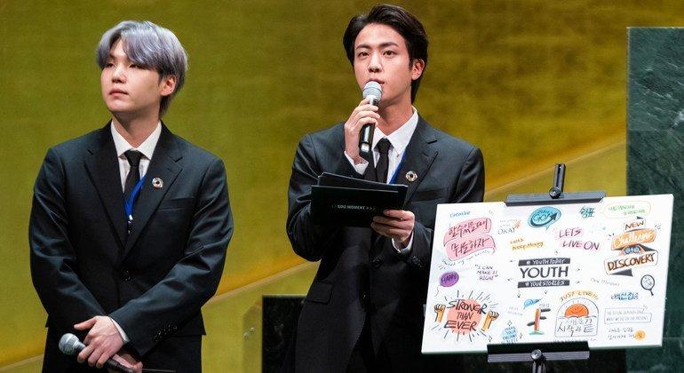 Integrantes do BTS participam do Momento ODS na Assembleia Geral da ONU