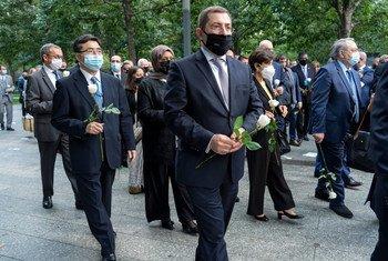 联合国和世界领导人在9/11遗址举行悼念活动