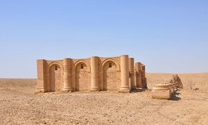 The Temple of Charyos in southern Iraq, built during the same Mesopotamian era when the Gilgamesh Dream Tablet was inscribed.