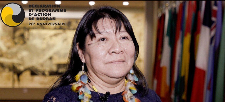 La militante brésilienne Joenia Wapixana se bat pour les droits fonciers des autochtones et contre la discrimination institutionnalisée au Brésil.