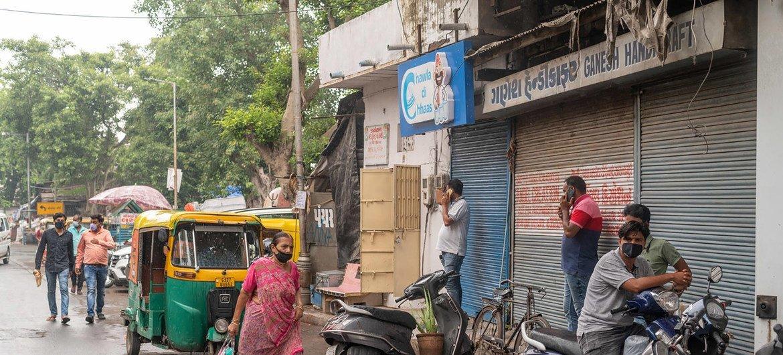 भारत में एक सड़क का दृश्य. अगस्त 2020