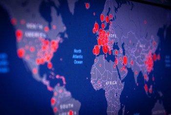 Карта с данными по распространению коронавируса