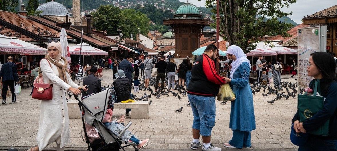 波黑萨拉热窝街景。