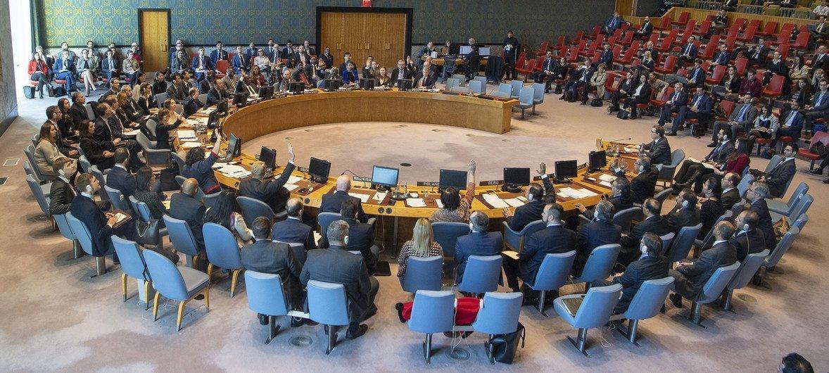 El Consejo de Seguridad durante una votación.