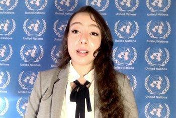 ياسمين وباهي متدربة بمكتب الأمم المتحدة المعني بالمخدرات والجريمة.