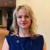 Светлана Лукаш, шерпа Российской Федерации в «Группе двадцати», приехала в ООН для участия во встрече по финансированию развития