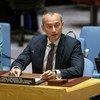 Nickolay Mladenov, coordinador especial para el Proceso de Paz en Medio Oriente, informa al Consejo de Seguridad.