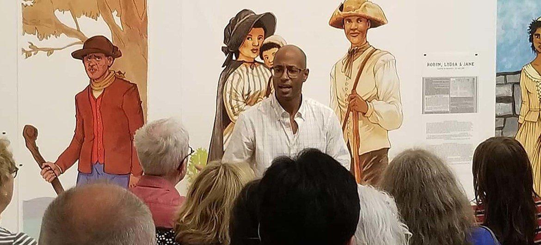 Webster, artiste hip-hop et conférencier canadien présente une exposition aux musées des Beaux-arts du Québec sur les esclaves en fuite.
