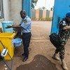 COVID-19 - Des mesures préventives d'hygiène sont mises en application au sein de la MINUSCA, la mission des Nations Unies en Centrafrique.