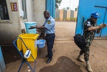 COVID19 - Des mesures préventives d'hygiène sont mises en application au sein de la MINUSCA, la mission des Nations Unies en Centrafrique