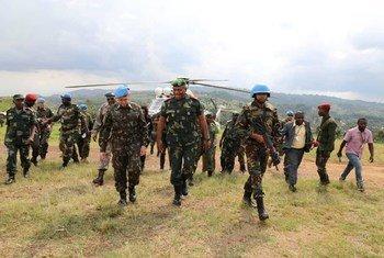 Recentemente, o oficial fez a primeira viagem ao campo na área de Beni, na província do Kivu do Norte.