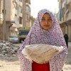 सीरिया के अलेप्पो शहर में विश्व खाद्य कार्यक्रम ज़रूरतमन्द परिवारों को भोजन मुहैया करा रहा है.