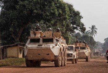 Soldado de paz de Ruanda, que atuava nas forças da Missão das Nações Unidas na República Centro-Africana, Minusca