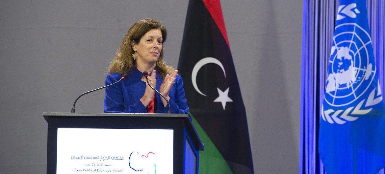 La representante especial interina para Libia, Stephanie Williams, felicita a los candidatos ganadores del Foro de Diálogo Político Libio.