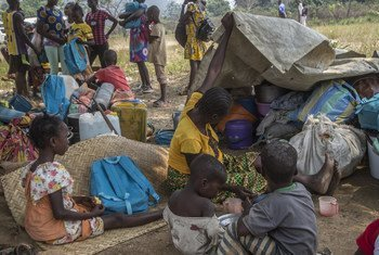 Liton village, in the commune of Begoua, north of Bangui, the capital of the Central African Republic, where 2,000 men, women and children have fled their villages since the clashes of January 2021 in and around PK12.