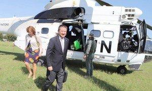 Envoyé spécial du Secrétaire général pour la région des Grands Lacs, Huand Xia, visite la RDC en 2019.