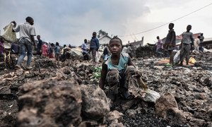Children are at risk following the volcanic eruption in Goma, Democratic Republic of the Congo.