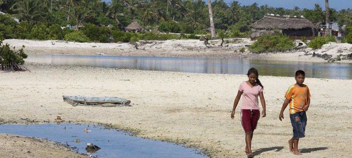 En Kiribati, el cambio climático está teniendo un impacto severo en la nación.