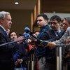 الأمين العام يتحدث إلى الصحفيين حول الوضع في ليبيا بعد اجتماع مع مجلس الأمن