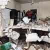مركز صحي مدمر في شرق حلب، بسوريا.