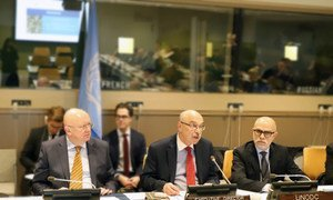 """Director of the UN Office of Counter-Terrorism, Under Secretary-General  Vladimir Voronkov presents the project """"Preventing and combatting the illicit trafficking of small-arms and light weapons and their illicit supply to terrorists"""" – addressing the terrorism-arms-crime nexus."""