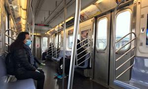 Le métro de New York pendant la pandémie de Covid-19.