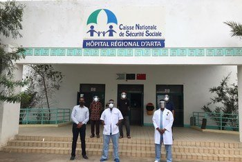 Doctors at Arte Hospital, Djibouti, receive 3D-printed face shields at a time of critical shortage