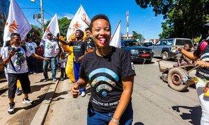 Climate youth activist Marie Christina Kolo of Madagascar.