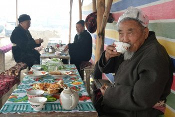 Tea is a cultural and social tradition in Kyrgyzstan.