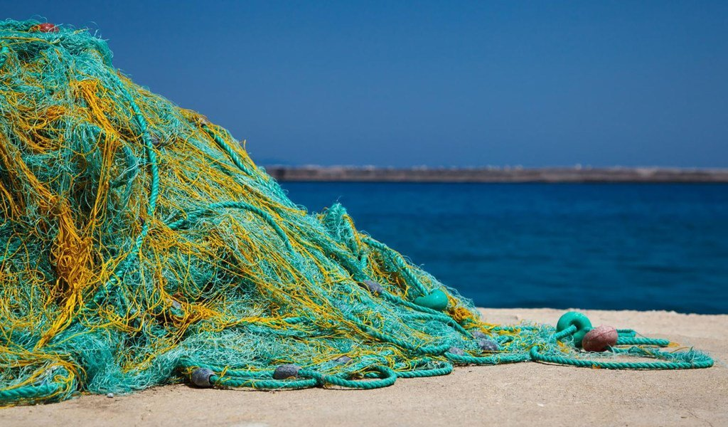 Redes recicladas del océano.