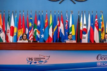 Executive Secretary Armida Alisjahbana (left) with other participants at the 76th session of the Economic and Social Commission for Asia and the Pacific (ESCAP) in Bangkok.
