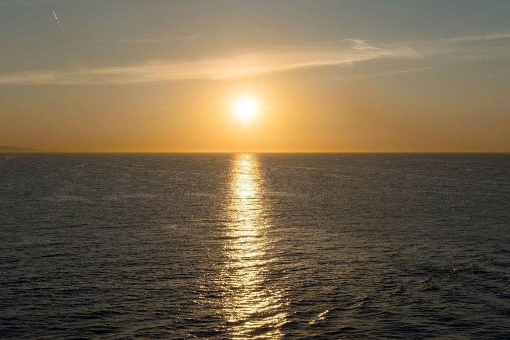 La mer Méditerranée au large de l'Espagne.