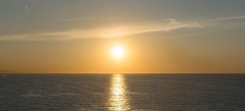 El mar Mediterráneo desde las costas de España