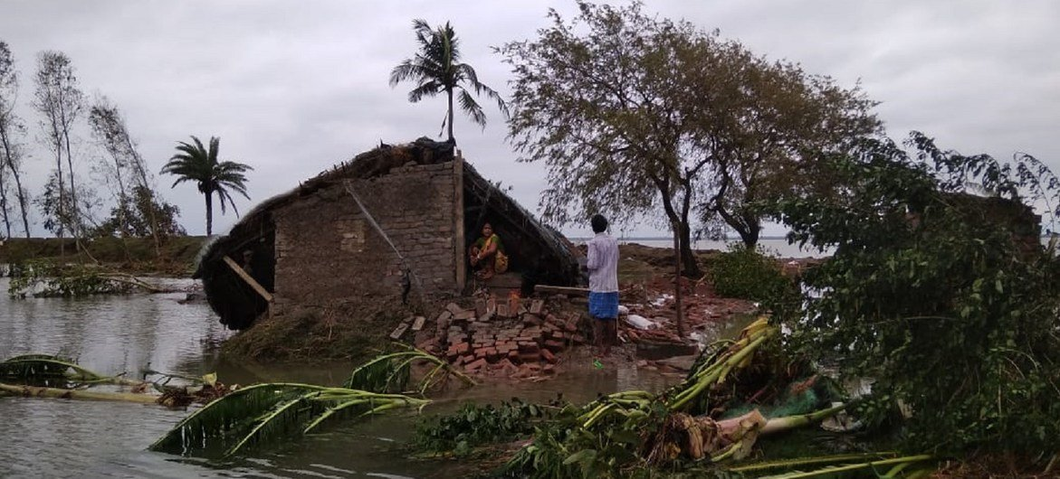 Cyclone Amphan made landfall in eastern India on Wednesday afternoon local time.