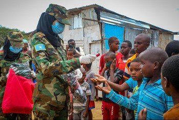 The UN Development Programme is running a COVID-19 awareness campaign with the Somali National Army in the capital Mogadishu.