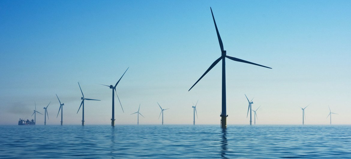 Wind farms have been built in offshore locations around the United Kingdom.