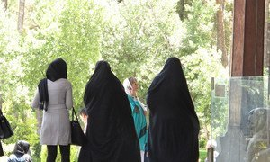 伊朗穿戴头纱的妇女