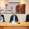 محافظ قنا، أشرف داوودي يتحدث خلال الاحتفال باليوم الوطني لمناهضة ختان الإناث
