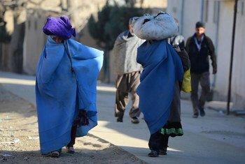 Des femmes à Kaboul, la capitale de l'Afghanistan.