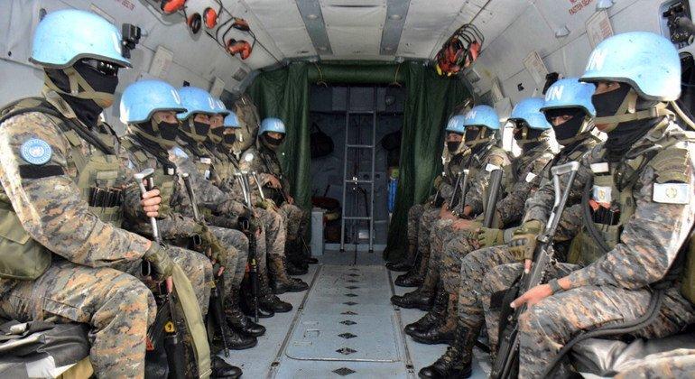 Contigente guatemalteco desplegado en la Misión de Estabilización de las Naciones Unidas en la República Democrática del Congo.