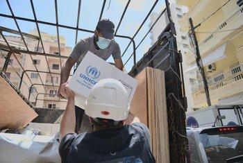 ACNUR y sus socios prestando apoyo a los residentes de Beirut afectados por la explosión.