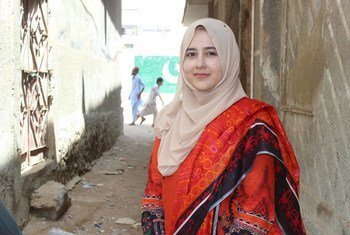 تعمل حسنة جول موظفة في منظمة اليونيسف في باكستان