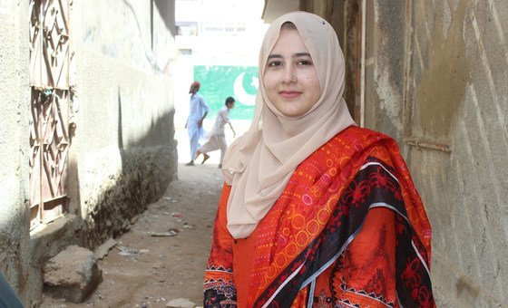 Husna Gul, a staff member with the UN Children's Fund (UNICEF) in Pakistan