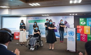 越南的年轻人在6月参加2020年国际青年日庆祝活动。