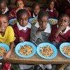 肯尼亚学童的午餐。
