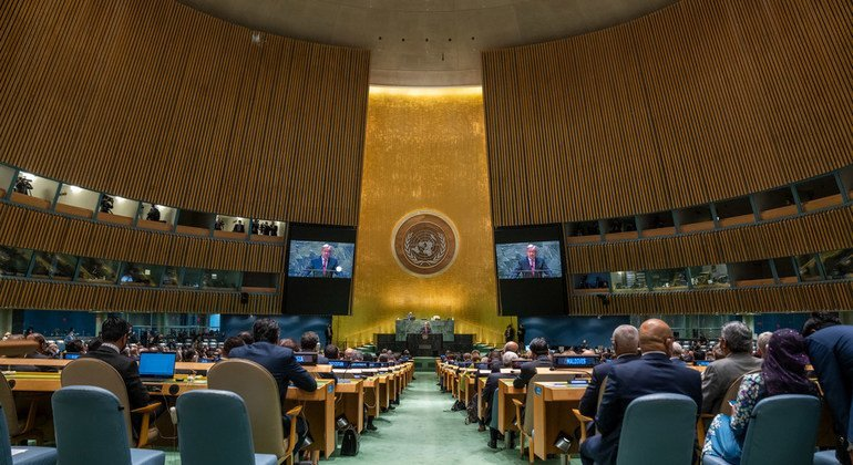 UN Secretary-General António Guterres addresses the general Debate of the 67th session of the UN General Assembly