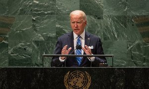 President Joseph R. Biden Jr. of the United States of America addresses the general debate of the UN General Assembly's 76th session.